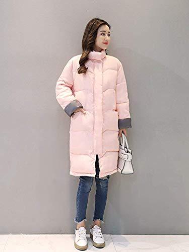 En Matelassé Ouatée Xx Décontracté large Hiver Pardessus Rose Femmes Veste coloré Épaissir Manteau Taille Coton Oudan Lâche Pour Longue 5E7qF5n