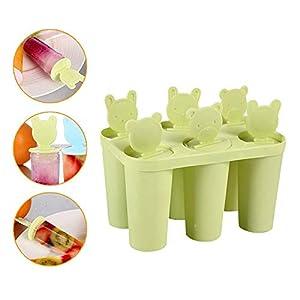 Ice Lolly Makers Stampi Pop per Gelato Estate Regalo Freddo Commestibile impilabile per congelatore Green 1 spesavip