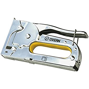 Oxean Premium-Quality All Steel Staple Gun With Anti-Jamming and Recoil Reduction Mechanism