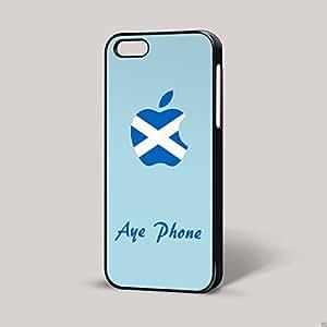 Azul Aye teléfono escocés divertido irónico iPhone funda escocés Humor