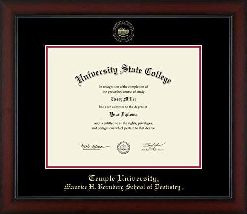 Temple University Maurice H. Kornberg School of Dentistry - Officially Licensed - Gold Embossed Diploma Frame - Diploma Size 14