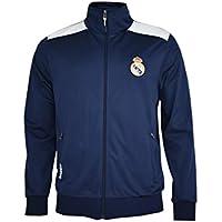 Real Madrid- Sudadera para Niño, color Navy- White.