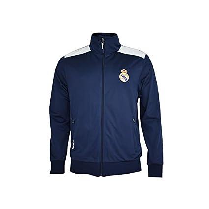 Real Madrid- Sudadera para Niño, color Navy- White. Talla 10 años