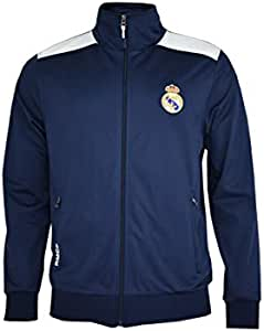 Real Madrid- Sudadera para Niño, color Navy- White. Talla 12 años ...