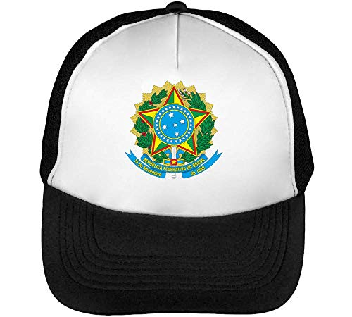 Republica Beisbol De Blanco Brazil Rio Snapback Janeiro Negro Gorras Hombre HEZnBw0