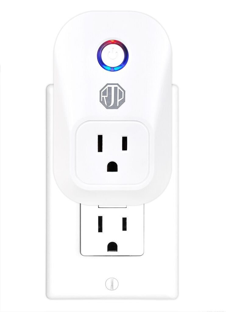 Rjordan Products 2018 Mini WiFi Smart Plug Outlet-Wireless Switch works with Amazon Alexa Echo & Google Home-Control your device from anywhere using your cell phone-No Hub Required