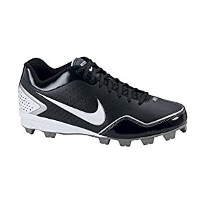 Nike Boys Keystone Low (BG) Baseball Cleat Black/Silver/White (2.5)