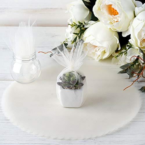 Mikash 200 pcs 12 Tulle Circles Scalloped Edge Wedding Favors Decorations Wholesale | Model WDDNGDCRTN - 4134 |