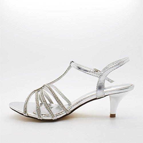 London Footwear - Zapatos de tacón  mujer Plateado - plata
