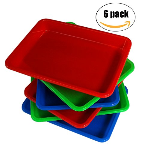 CKH Easy to Clean Colorful Craft Trays (Set of 6) by Nesha Design Components