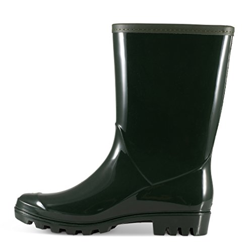 Rain Calf Mid Green Shana Boots Twisted Women's Hwq4HFO