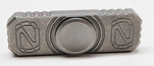 Stedemon Knives Titanium Hand Spinner Top Ceramic Ball Bearing Bead Blast Z01BLS