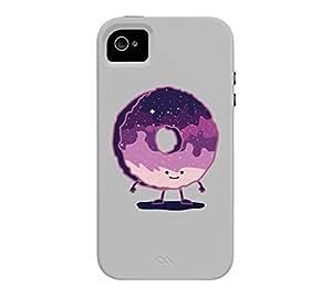 The Cosmic Donut iPhone 4/4s Heather Grey Tough Phone Case - Design By Humans wangjiang maoyi