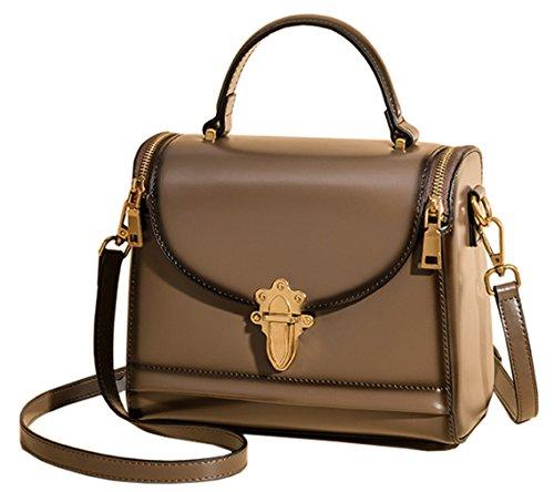 New Handbags Bags SAIERLONG Tote Dark Genuine green Womens Coffee Shoulder Leather 7nxf4d