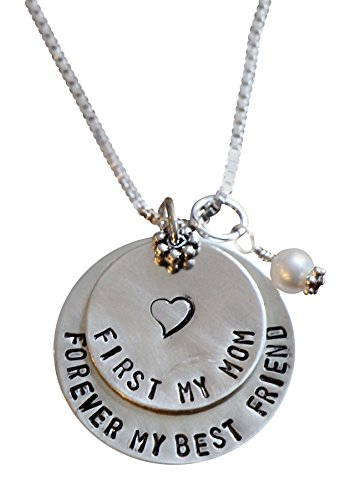 Wedding Personalized Necklace- First My Mother Forever My Best Friend - Christmas or Mother's Day Gift by K & S