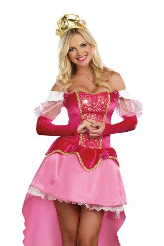 Beauty Dress Sleeping Adult (Dreamgirl Sleeping Princess, Pink,)