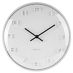 Karlsson Wall Clock, Aluminium, White, One Size