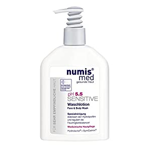 All in One Face & Body Cleanser Imported From Germany Dermatologist Tested 5 Star Guarantee for Sensitive & Dry Skin Low pH 5.5 Soap Free Paraben Free Vegan 200 ml by Numis Med