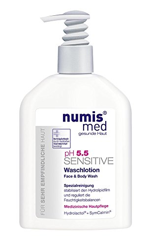 Uv Sensitive Liquid (All in One Face & Body Cleanser Imported From Germany Dermatologist Tested 5 Star Guarantee for Sensitive & Dry Skin Low pH 5.5 Soap Free Paraben Free Vegan 200 ml by Numis Med)