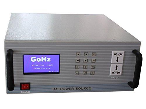 GoHz Frequency Converter 110v/120v 60Hz to 220v/230v/240v 50Hz, 1kVA Step-down & Step-up Frequency & Voltage Converter