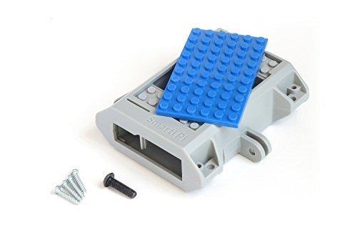 Building block compatible SmartiPi Raspberry Pi B+,2,3, and Pi 3 B+ case – Blue