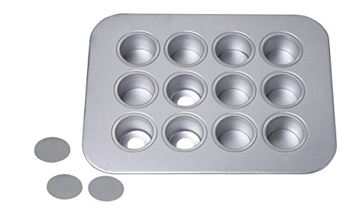 Chicago Metallic  12-Cup Mini-Cheesecake Pan, 14-Inch-by-10.75-Inch ()