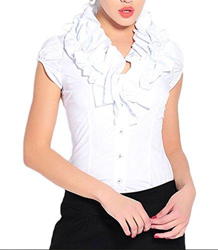 Soojun Chiffon Collar Ruffle Bodysuit