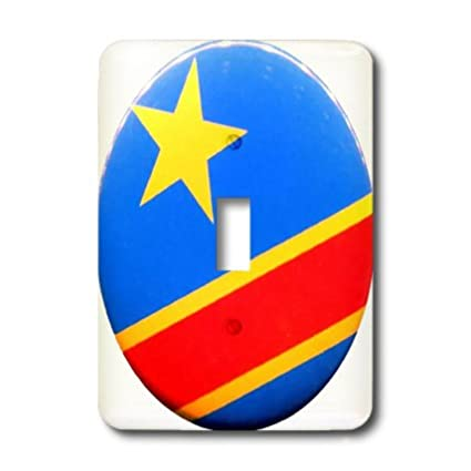 3dRose lsp/_80939/_1 Photo Of Congo Flag Button Single Toggle Switch