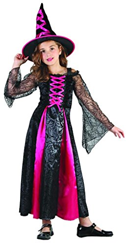 YOU LOOK UGLY TODAY Girl's Fairytale Halloween Witch Dress-up Costume, Quality Fabric, Washable & (Witch Girl Costume)
