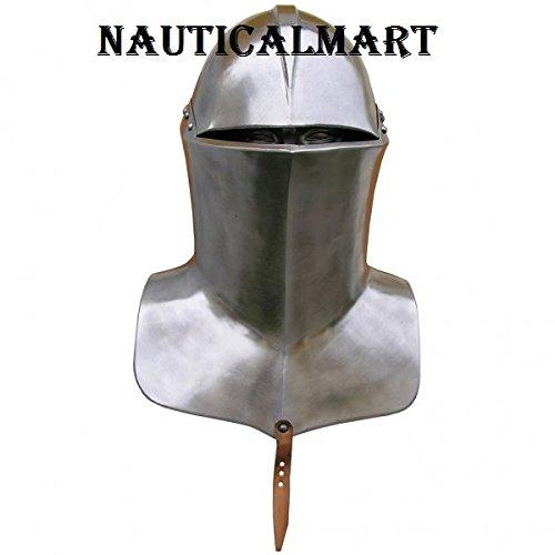 (NAUTICALMART Medieval Knight Armor Frog Mouth Tournament Helmet)