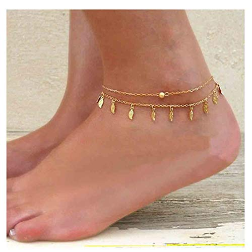 Olbye Gold Leaves Anklet...