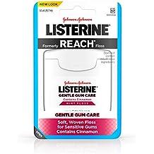 Listerine Gentle Gum Care Interdental Floss for Sensitive Gums, Oral Care, Mint, 50 Yards (Pack Of 6)