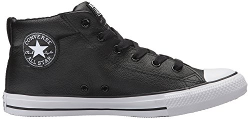 Sneaker Street Mid Black Top White Men's Converse Leather xqp8nwzPSg