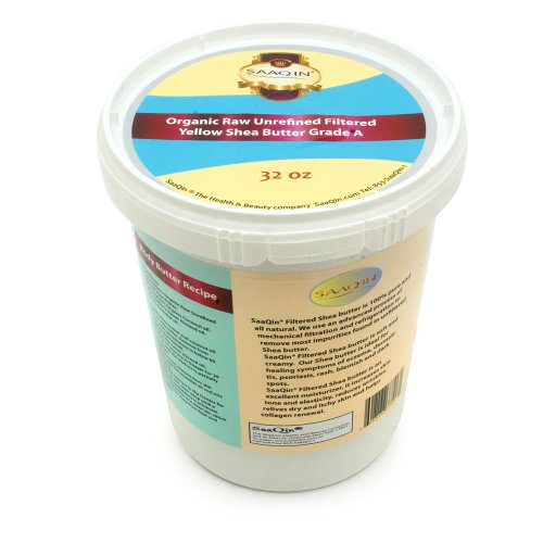 (Authentic Organic African Shea Butter FILTERED & CREAMY 32 Oz)