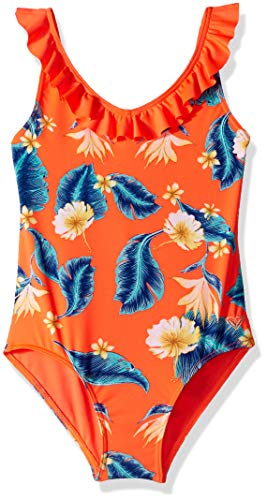 Roxy Big Girls' Seaside Lover One Piece Swimsuit, F Coral n Tropical Love RG Southwest, 10 ()