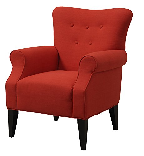Emerald Home Lydia Sensu Lipstick Accent Chair with Button Tufting And Roll Arms Review