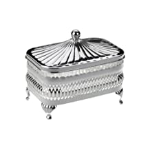 Butter Dish Silver Plated with Tarnish Resistant Finish, Never needs Polishing 13X9cm