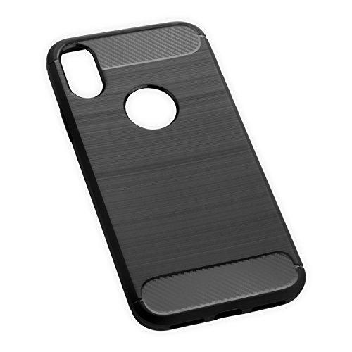 Coque iPhone X, Yayago Coque de protection Hybrid Premium Case Etui pour Apple iPhone X silicone noir