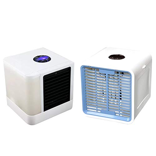 Ainany 3 in 1 Portable Air Cooler USB Personal 7 Colors LED Lights Air Conditioner Space Air Conditioner Fan Evapolar Humidifier Office Cooler Purifier ()