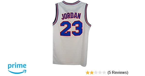 7c5d975d70b7ae Amazon.com   23 Men s Jordan Tune Squad Space Jam Classics White Basketball  Jersey 2X-Large  Clothing