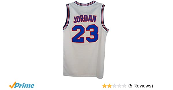 77e20a6fffd Amazon.com: #23 Men's Jordan Tune Squad Space Jam Classics White Basketball  Jersey 2X-Large: Clothing