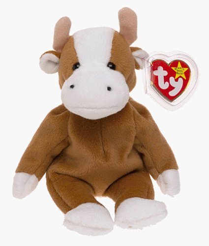 Amazon.com  TY Bessie the Brown and White Cow Beanie Baby by Beanie ... 6eecfa77f3a