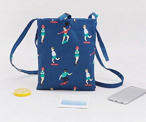 LAAT - Bolso mochila  para mujer, azul (azul) - Y7140756EHSYF162 azul