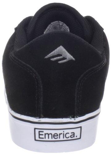 Emerica LIVERPOOL 6101000091 - Zapatillas de cuero para hombre Negro (Schwarz (Black/Grey/White))