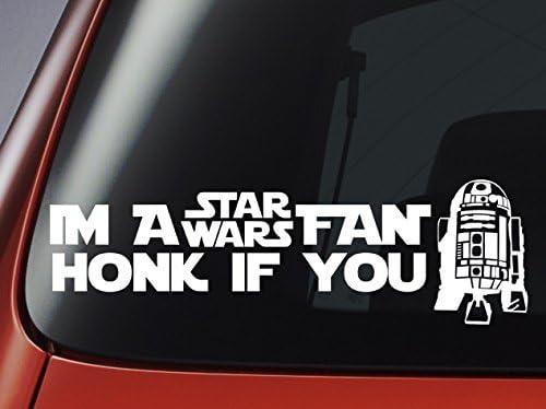 Star Wars Im A Star Wars Fan Honk If You R2 Car Wall Laptop Decal Küche Haushalt