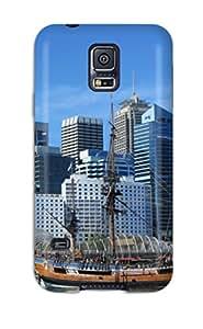 Galaxy S5 SHJmxsP10098lKiOD Sydney City Tpu Silicone Gel Case Cover. Fits Galaxy S5 Sending Free Screen Protector