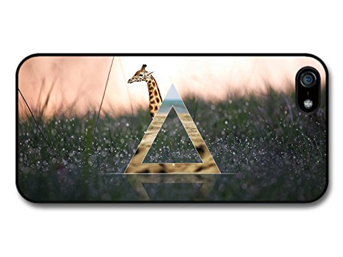 Hipster Triangle in Funny Cute Giraffe Artwork Stylish coque pour iPhone 5 5S