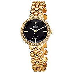 Swarovski Crystal Studded Diamond Marker Watch