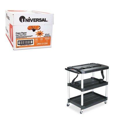 Rubbermaid Multi Purpose Shelf - KITRCP9T28UNV21200 - Value Kit - Rubbermaid MediaMaster 3-Shelf AV Cart (RCP9T28) and Universal Copy Paper (UNV21200)