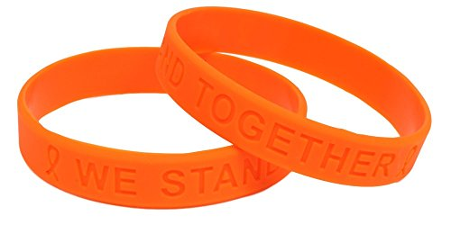 Orange Awareness Silicone Bracelets 25 Pack]()